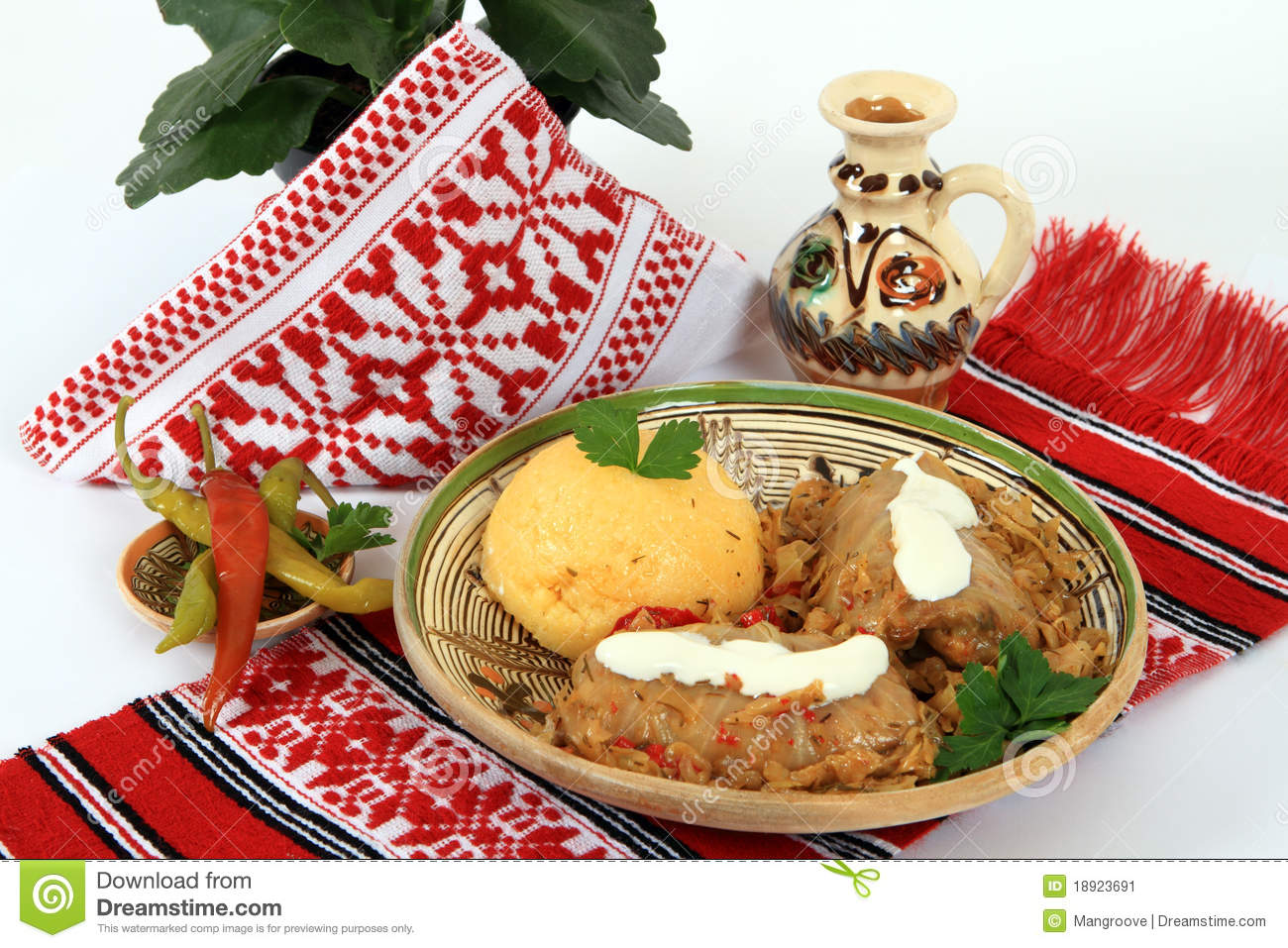 Traditional cuisine from Romania: sarmale