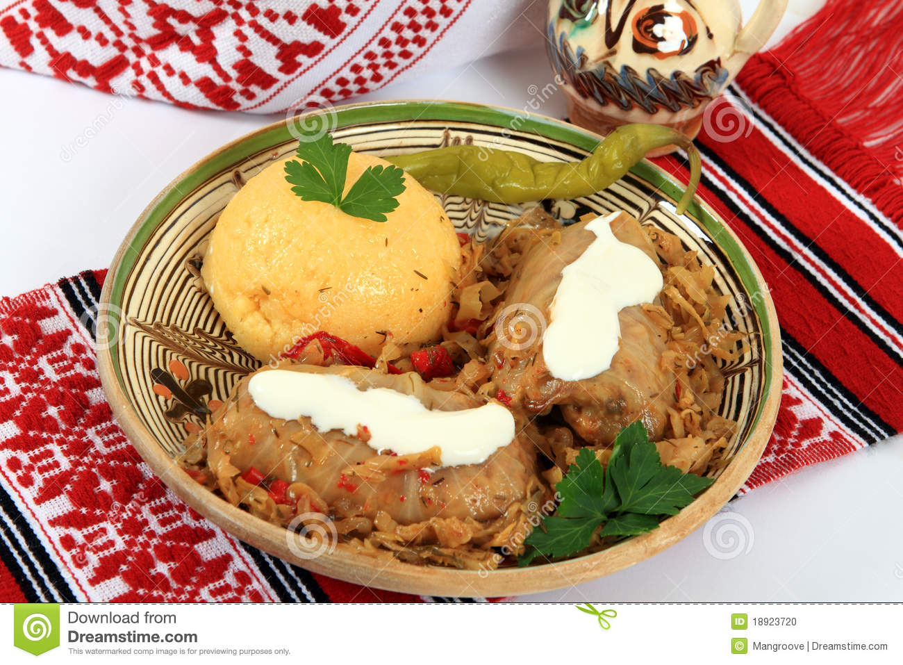 Traditional Cuisine From Romania: Sarmale Stock Photo ...