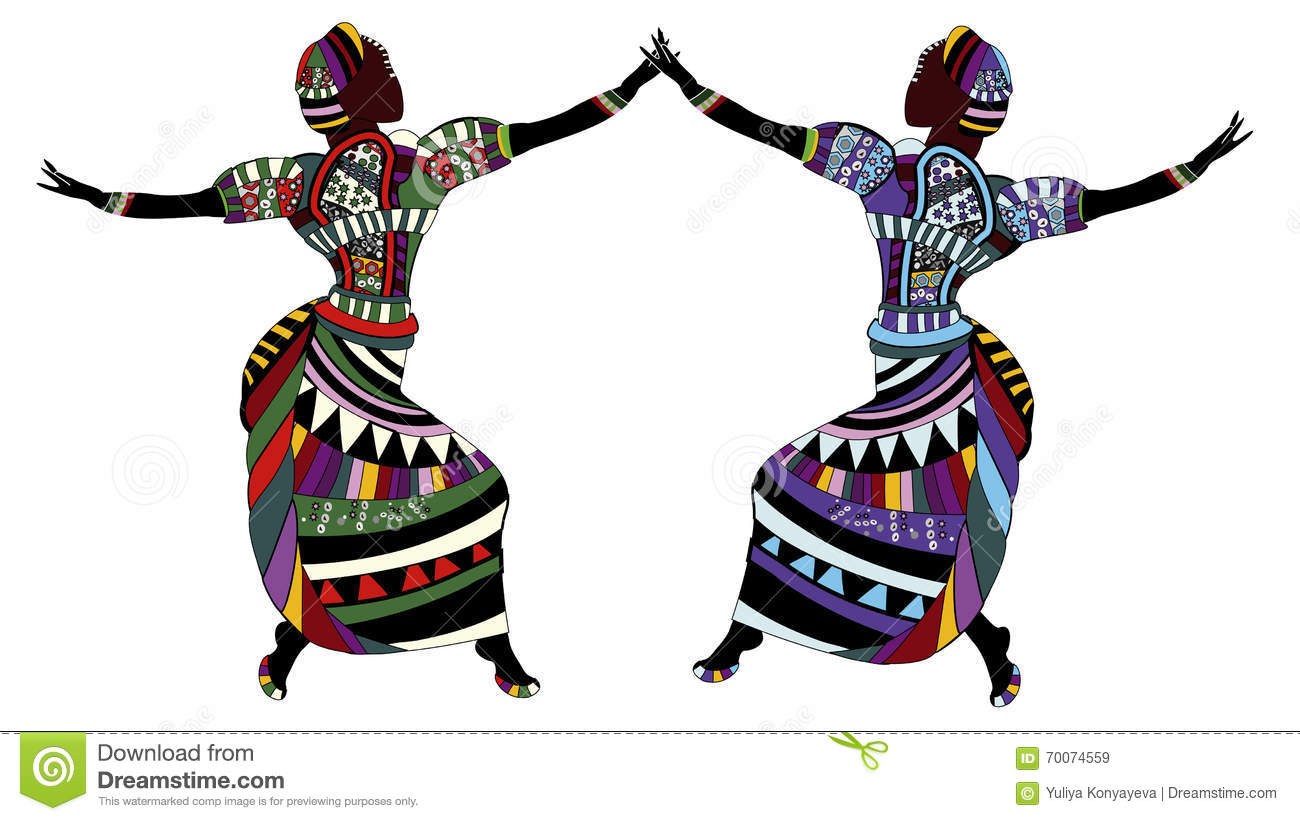 Traditional Dance Cartoon Vector | CartoonDealer.com #70074559