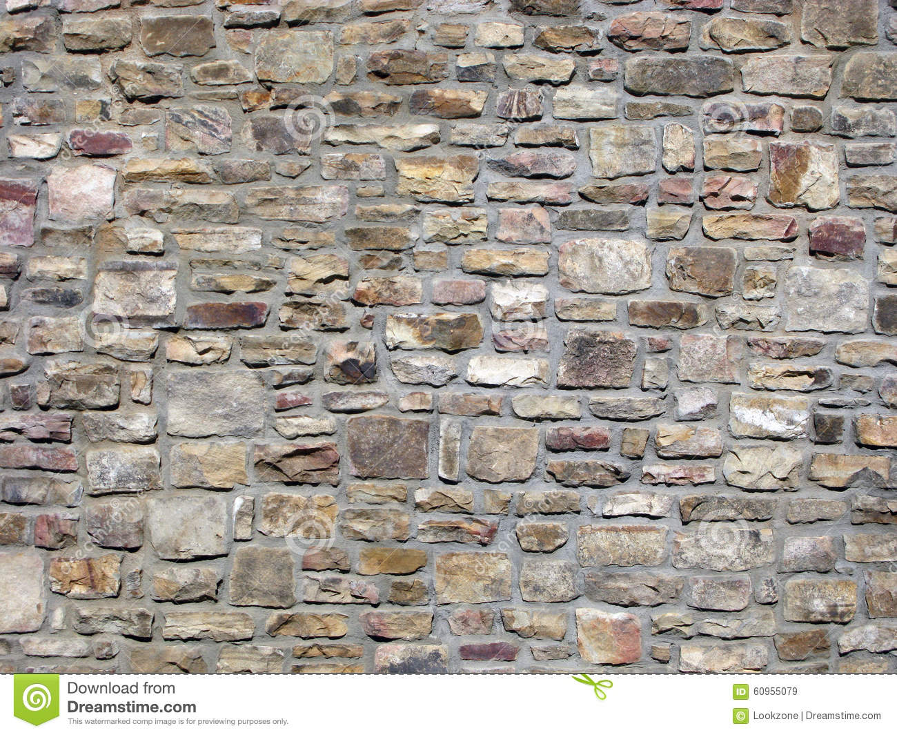 Decorative Wall Stone : Traditional decorative rock wall stock image of