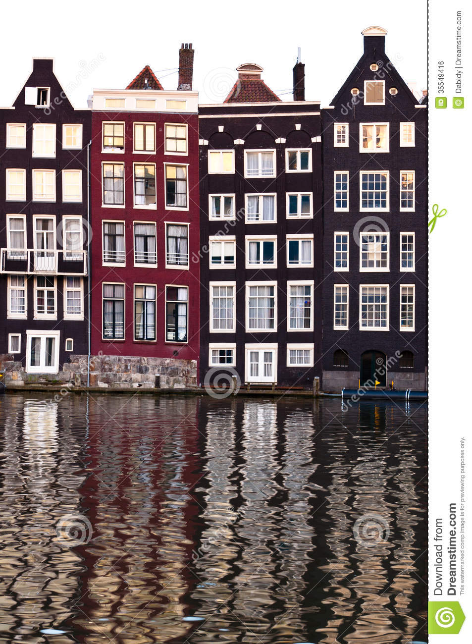 Traditional dutch architecture houses stock photo image for Classic dutch house of 60m2