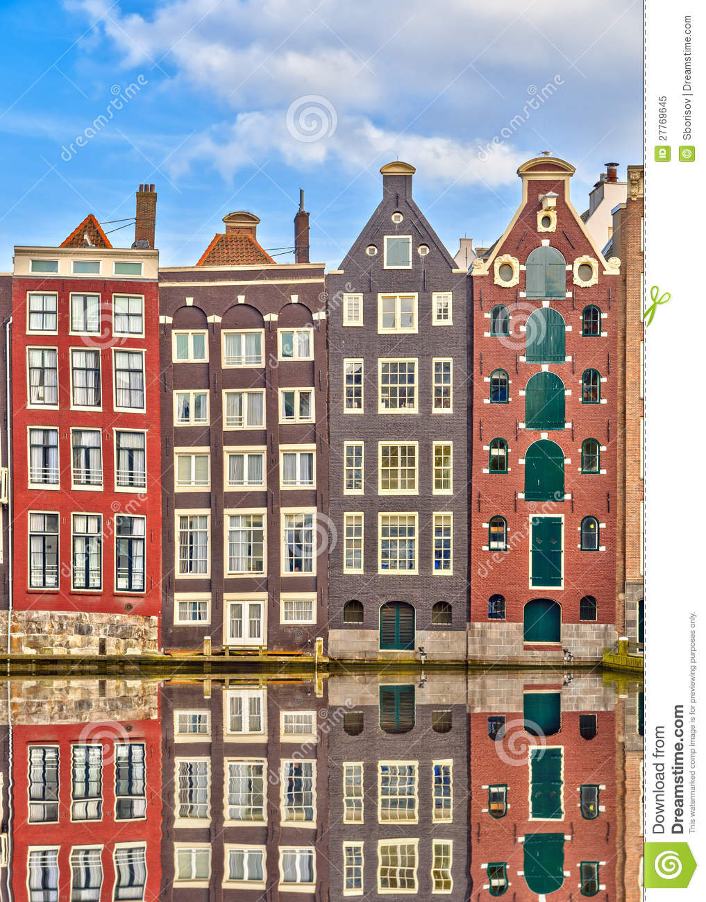 Traditional dutch buildings amsterdam stock image image for Classic dutch house of 60m2