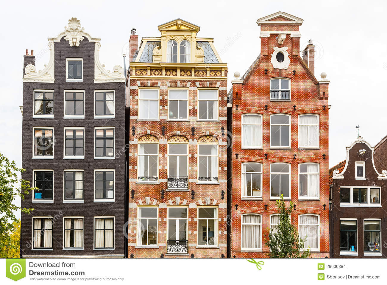 Traditional dutch buildings amsterdam stock photo image for Classic dutch house of 60m2