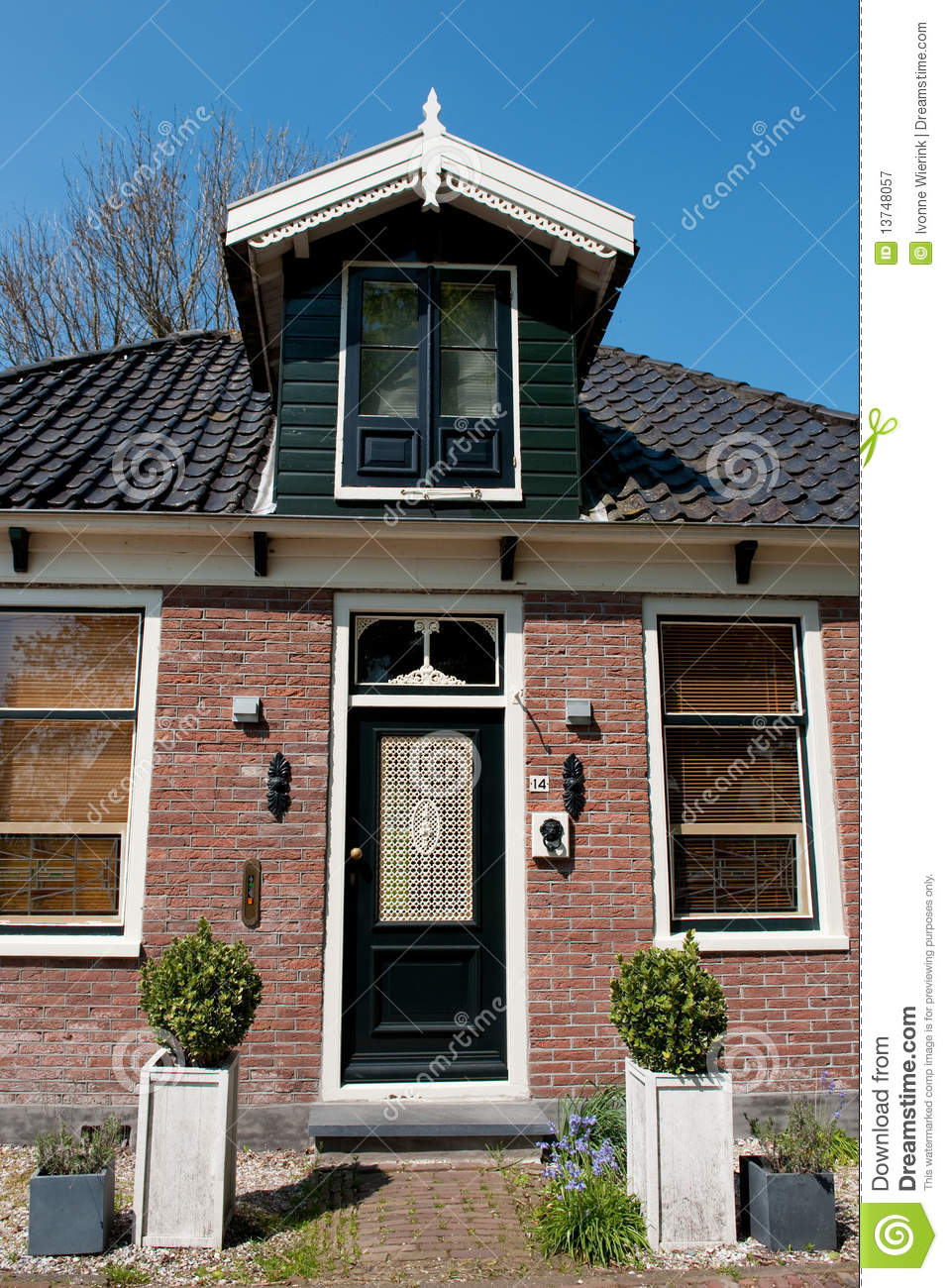 Traditional dutch house stock image image of green for Classic dutch house of 60m2