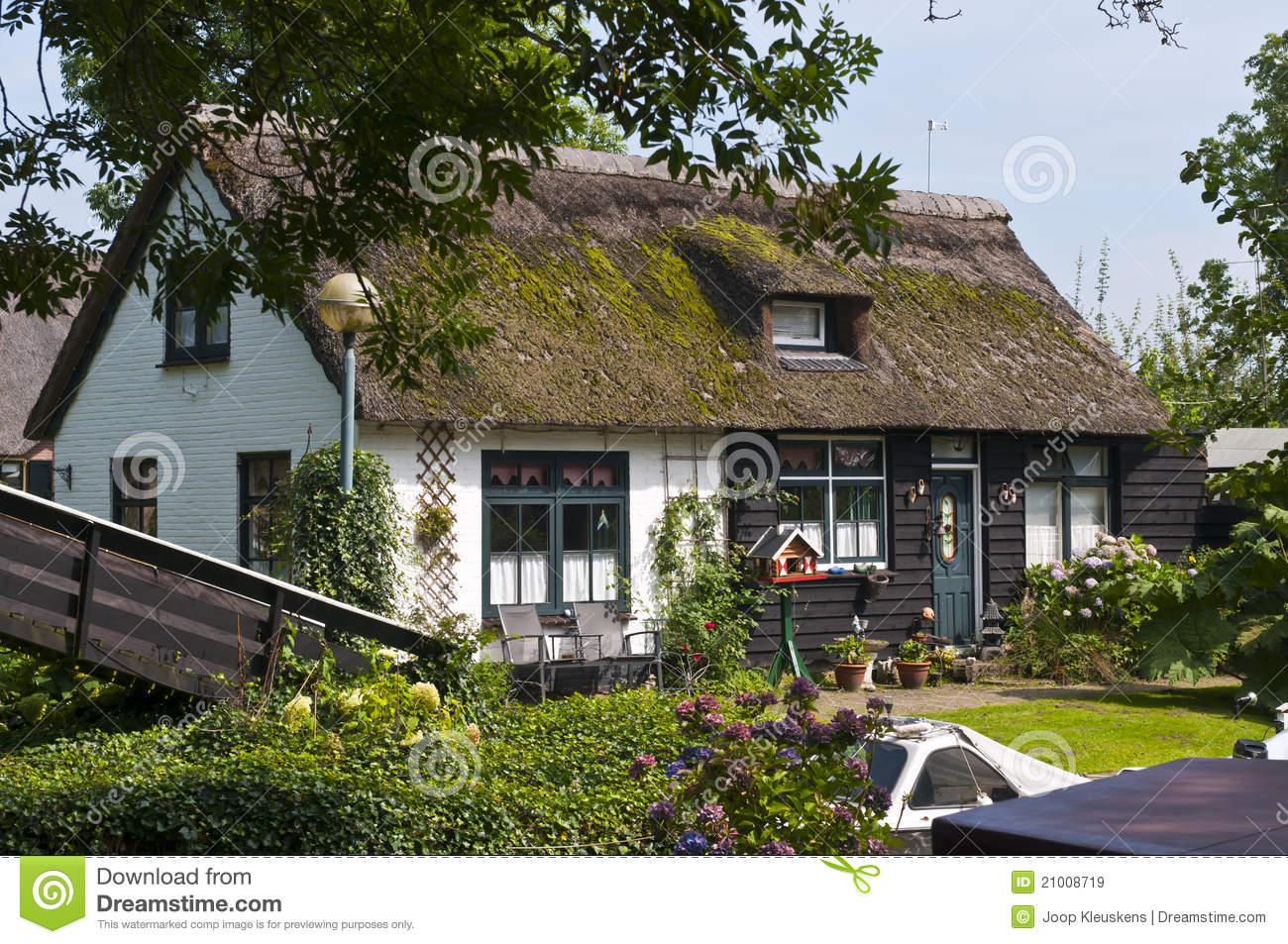 Traditional dutch house stock image image of building for Classic dutch house of 60m2
