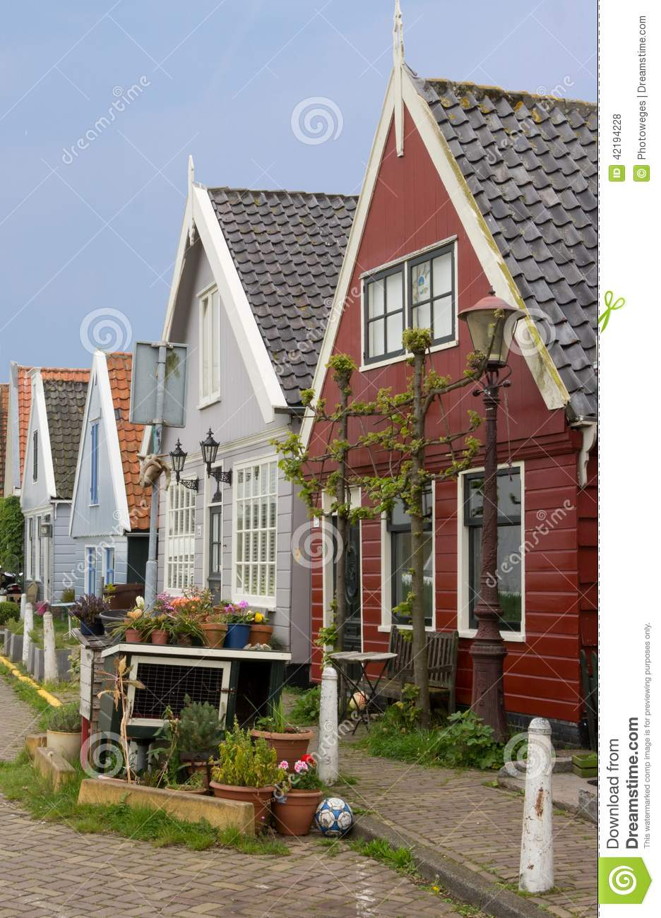 Traditional dutch houses in durgerdam stock photo image for Classic dutch house of 60m2