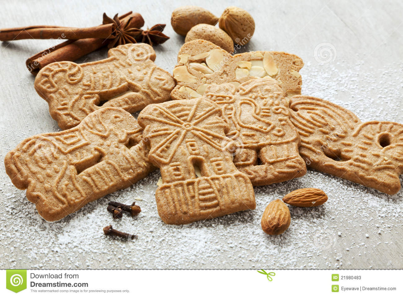 Traditional Dutch Pastry Speculaas Stock Photos - Image: 21980483