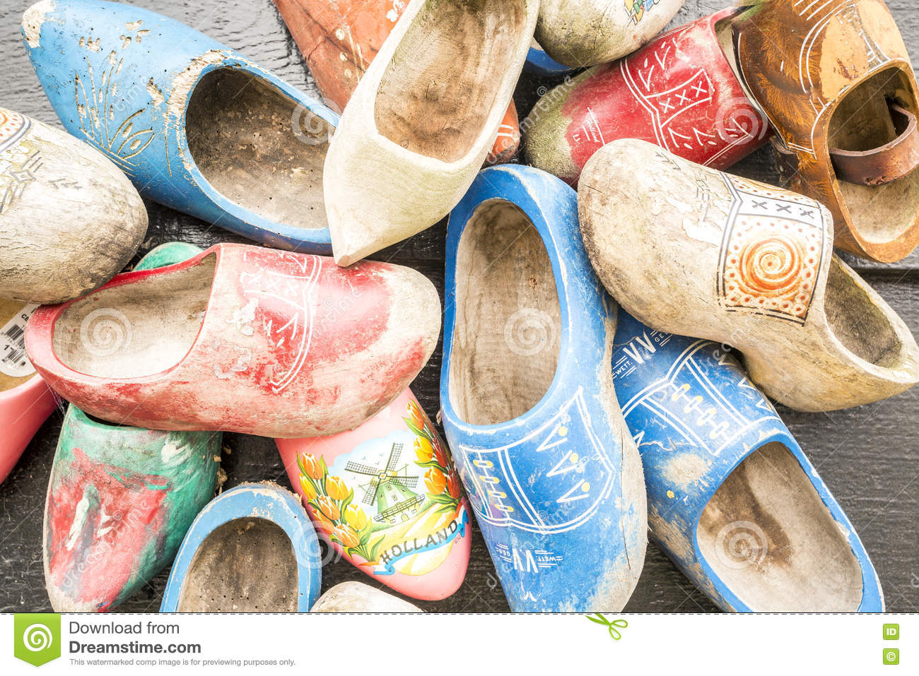 Traditional Dutch Shoes Called Clogs Stock Photo Image Of Clothing