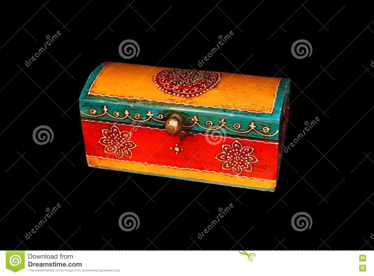 Box Culture : Traditional eastern culture wooden box royalty free stock