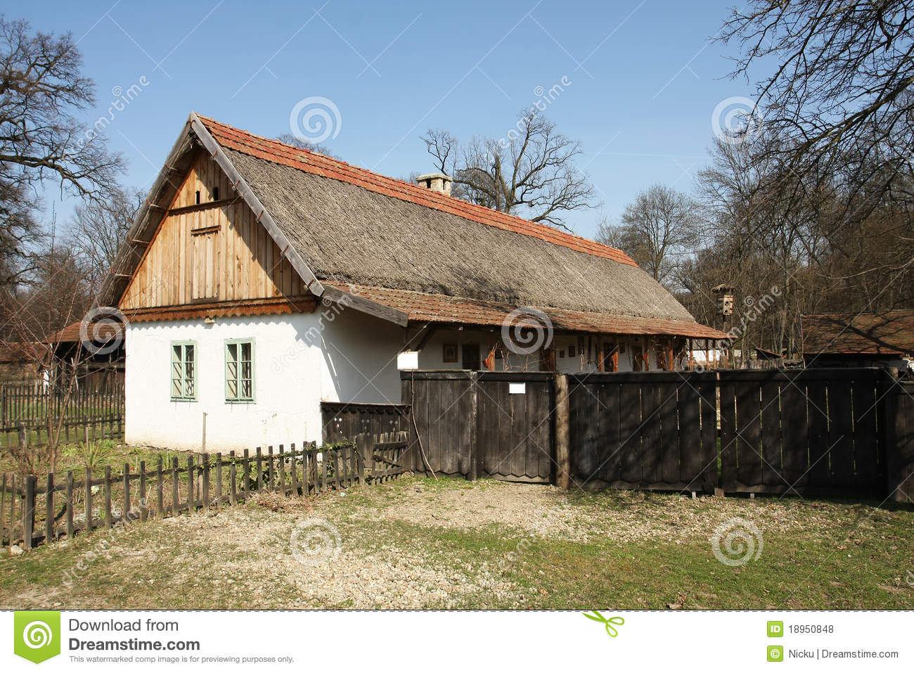 Traditional Eastern Europe Country House Royalty Free