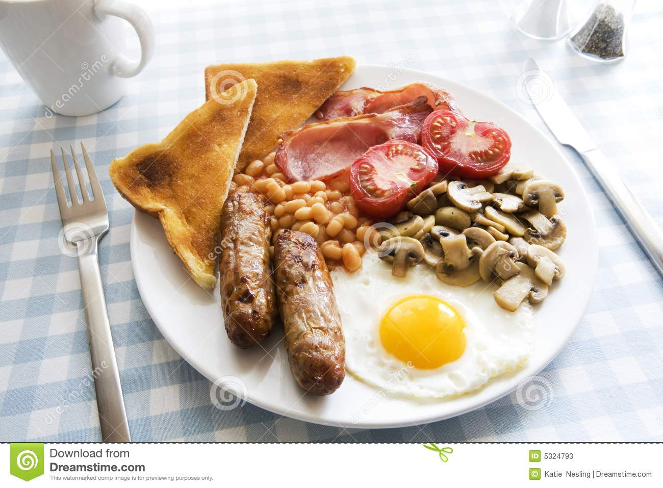 Traditional English Cooked Breakfast Stock Photos Image