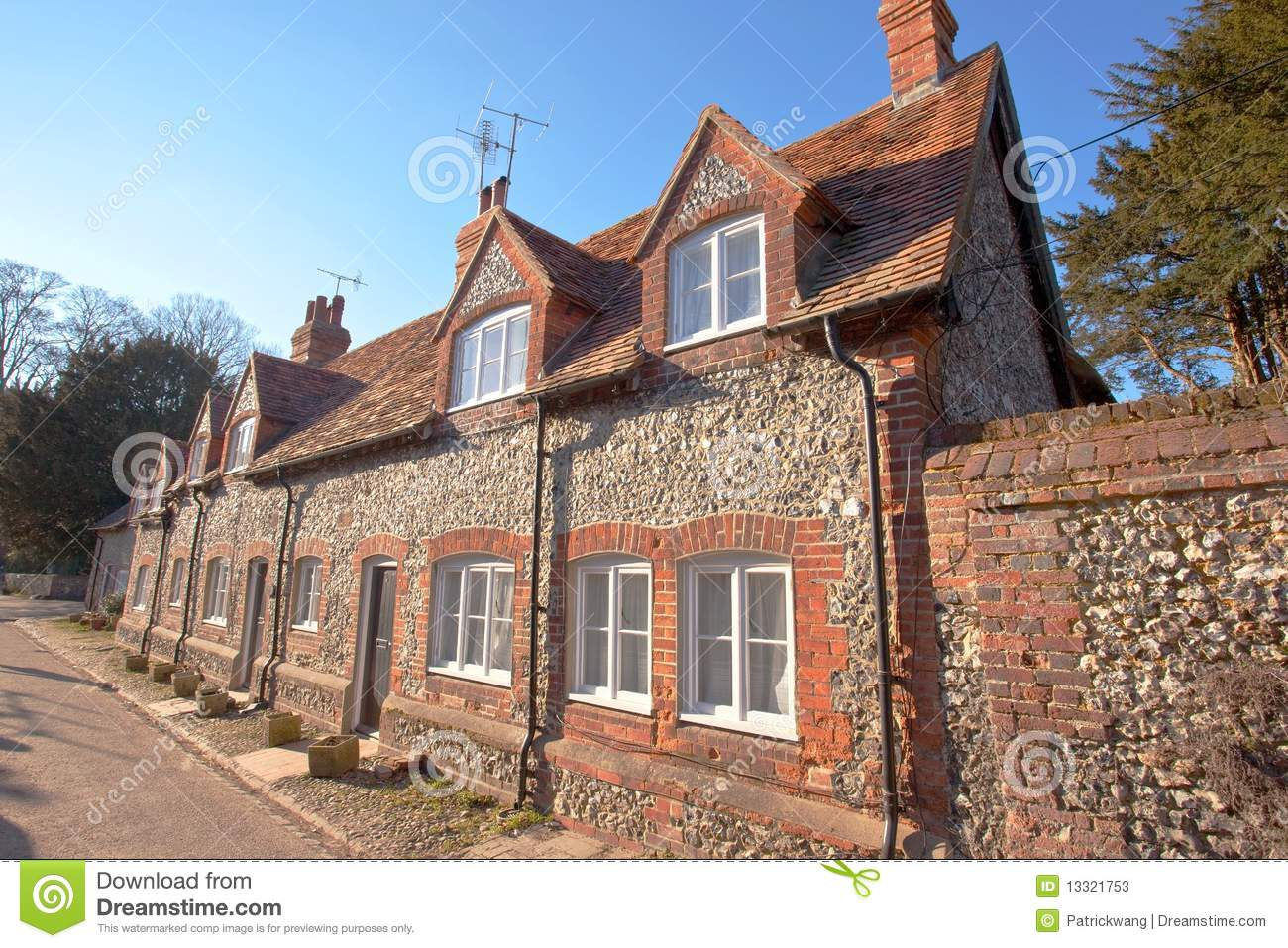 Traditional english house stock image image of wall for Classic english house