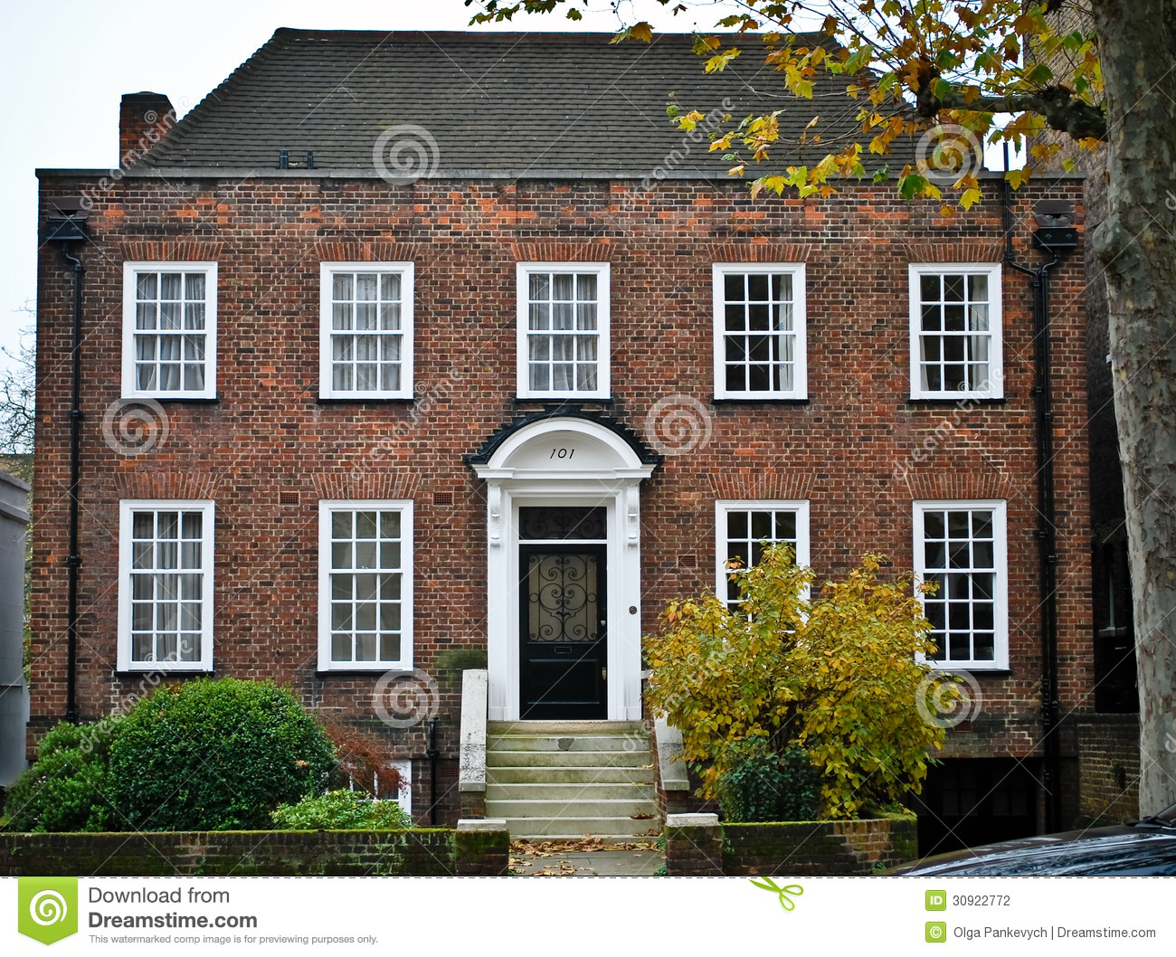 Traditional English House Stock Photography
