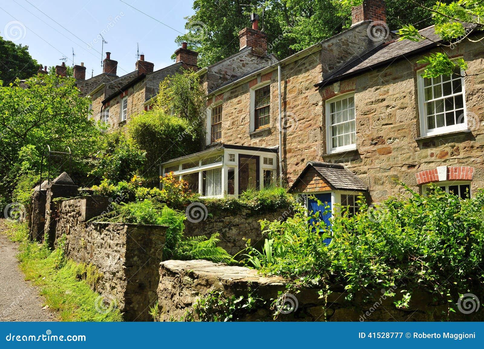 Traditional English Houses Cornwall England UK