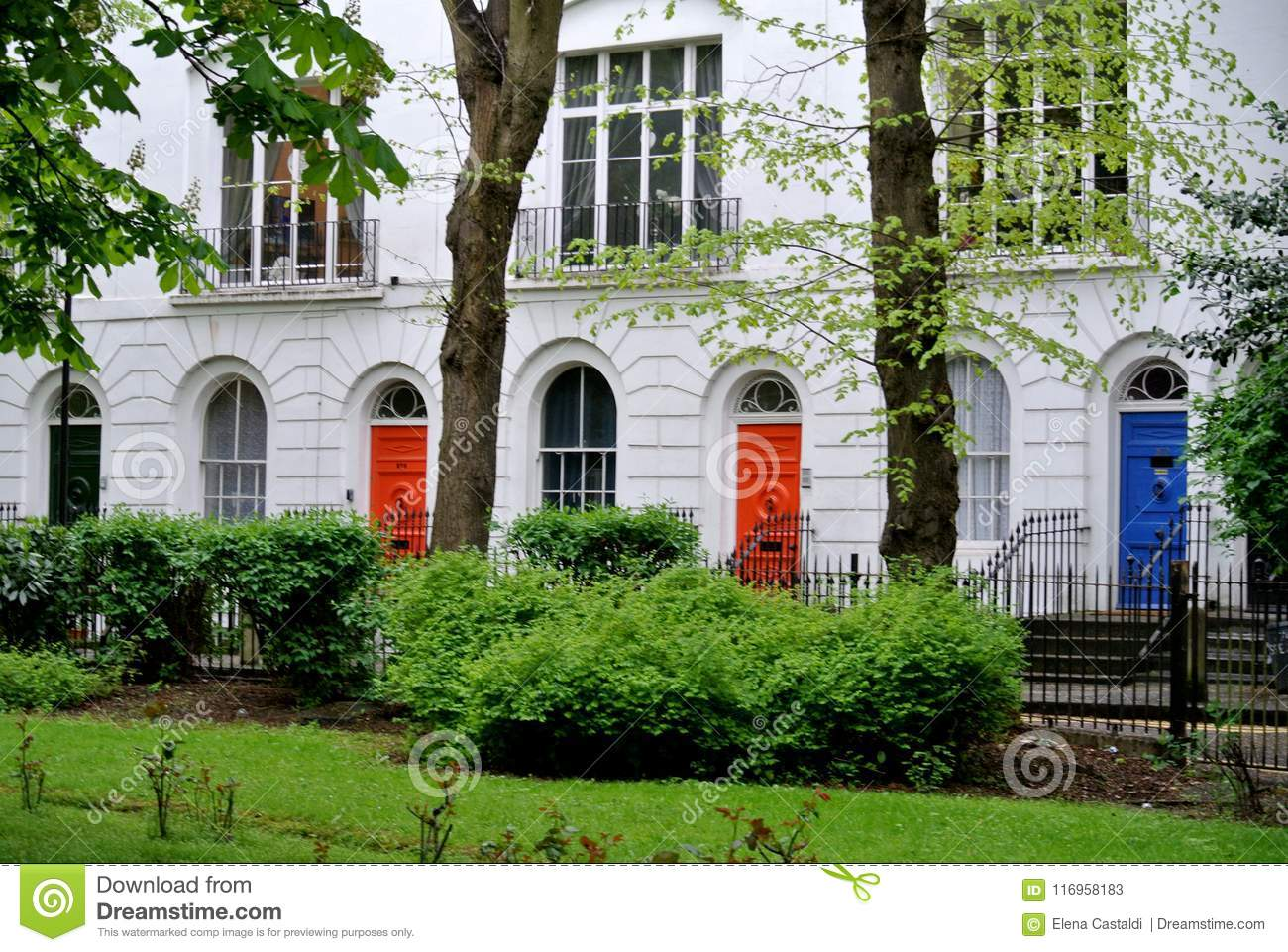 Traditional English residential buildings,
