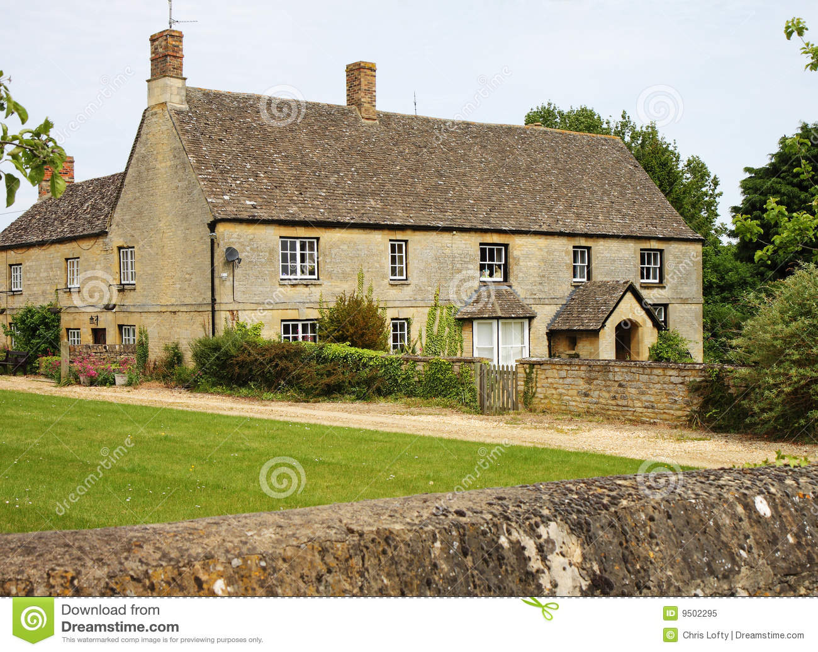 Traditional English Rural Farmhouse Royalty Free Stock Image