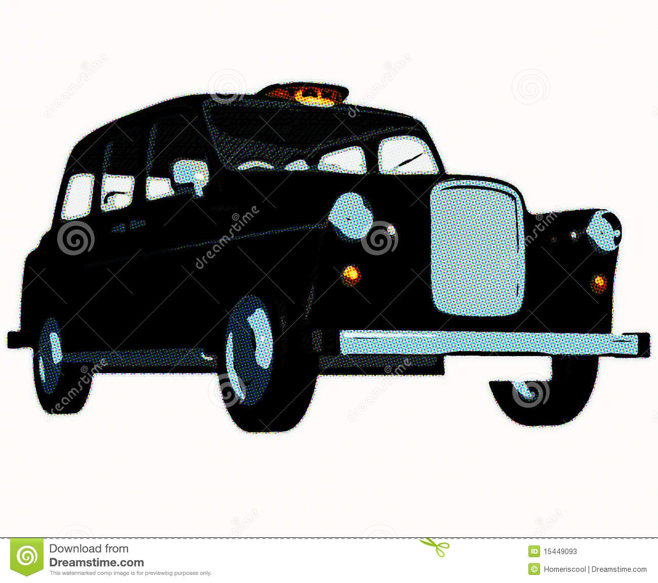 Traditional english taxi cab stock photos image 15449093 - Dessin taxi anglais ...