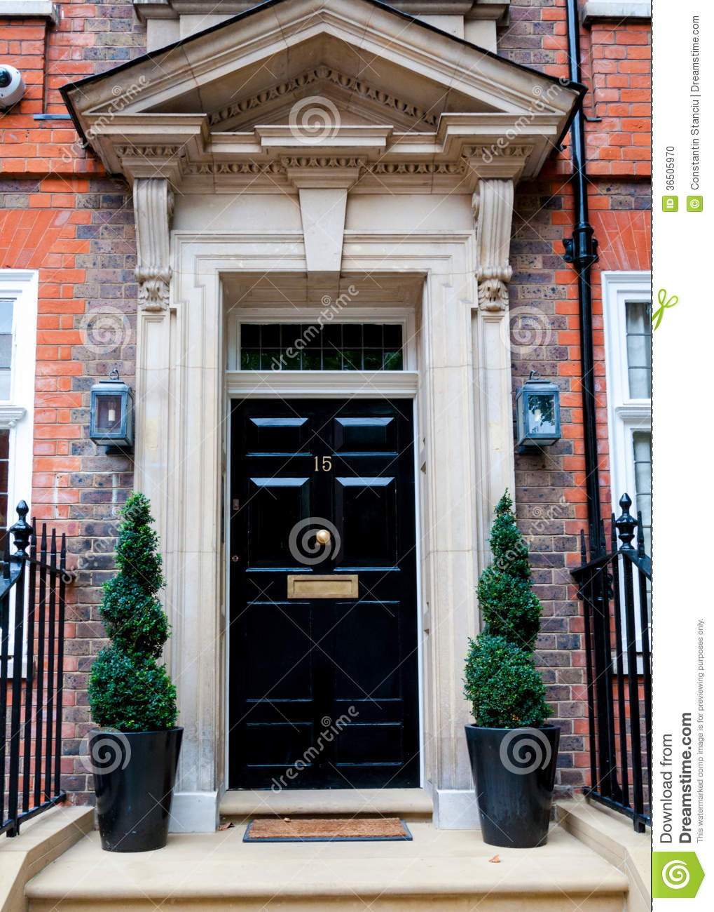 Traditional English Victorian Front Door Stock Photo Image 36505970