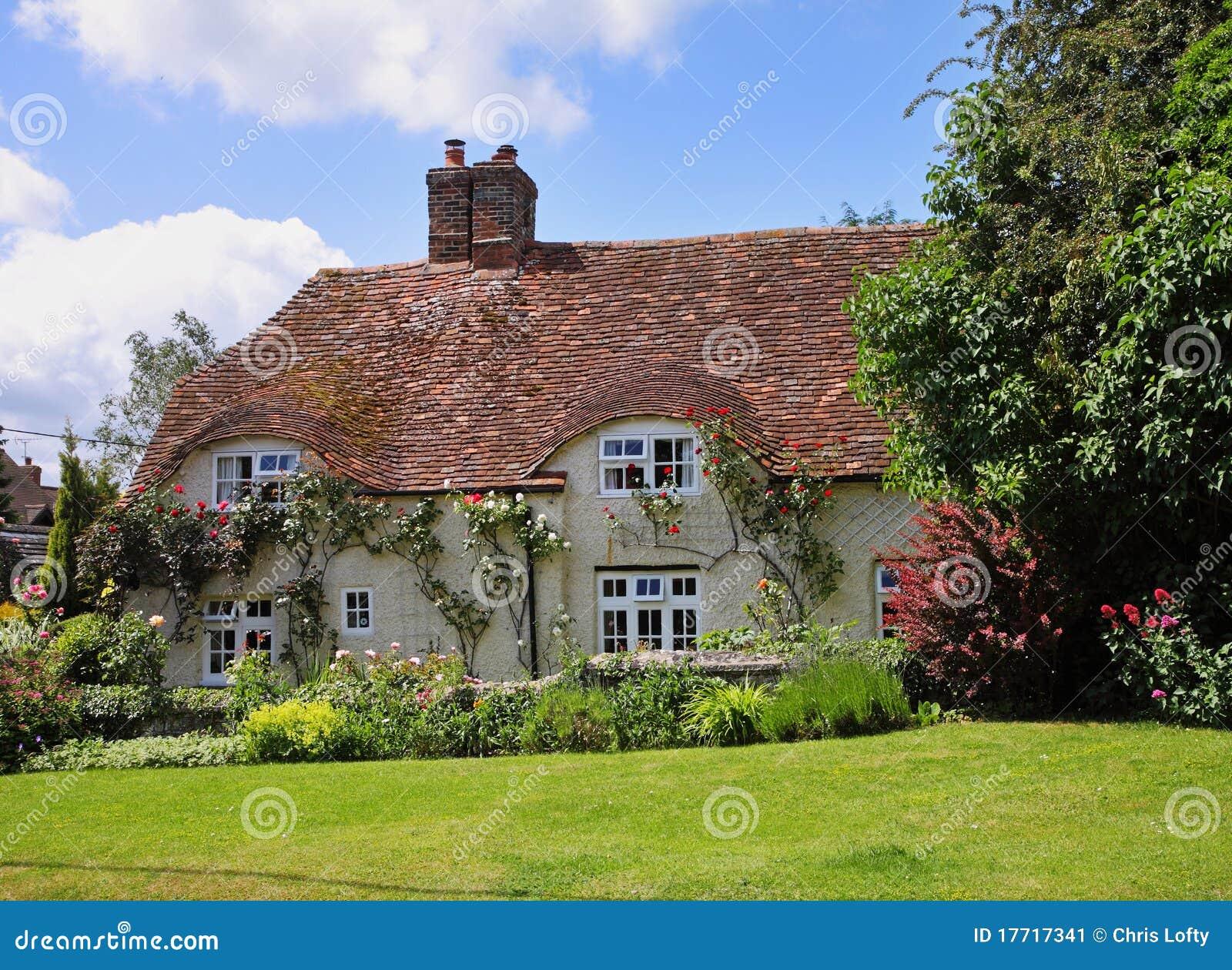 Traditional English Village Cottage Stock Image