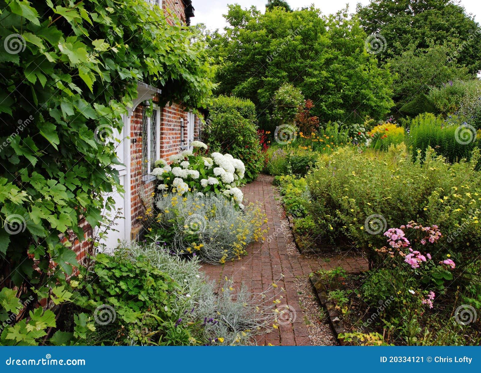 Stock Image Traditional English Village Cottage Garden Image20334121 on Quaint Cottage House Plans