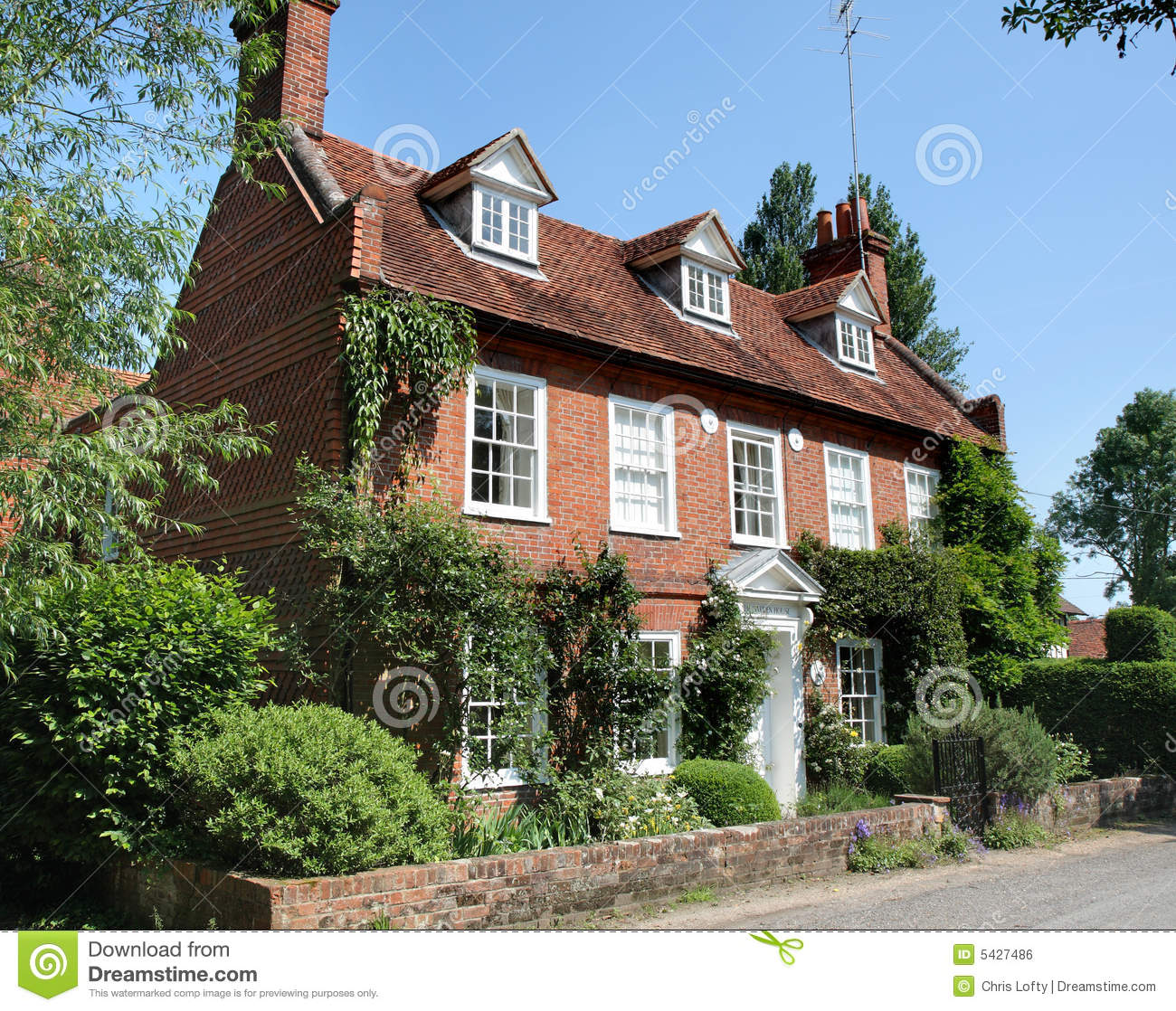 Traditional english village house stock photo image of for Classic english house