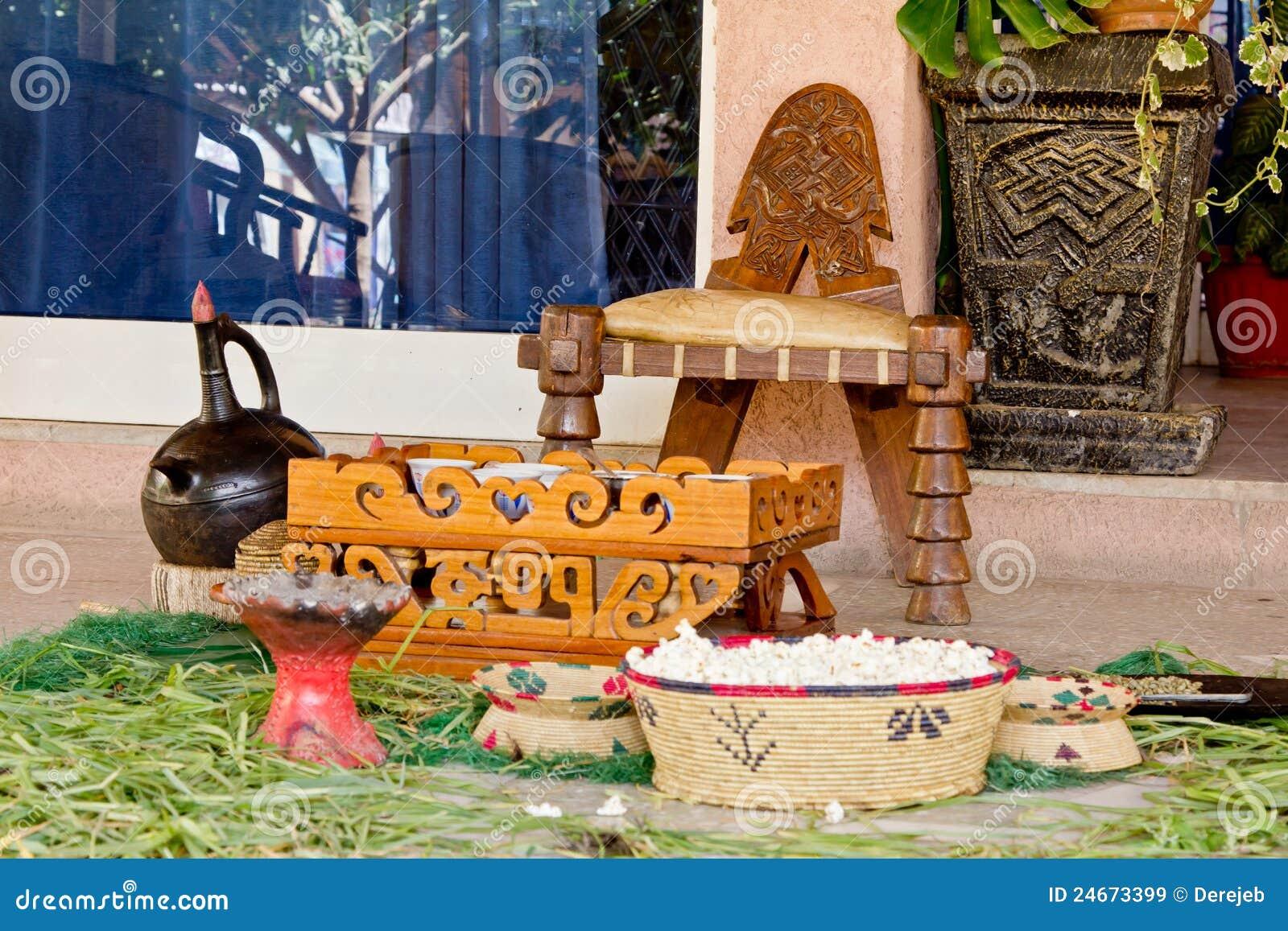 Traditional Ethiopian Coffee Setup Royalty Free Stock Images Image 24673399