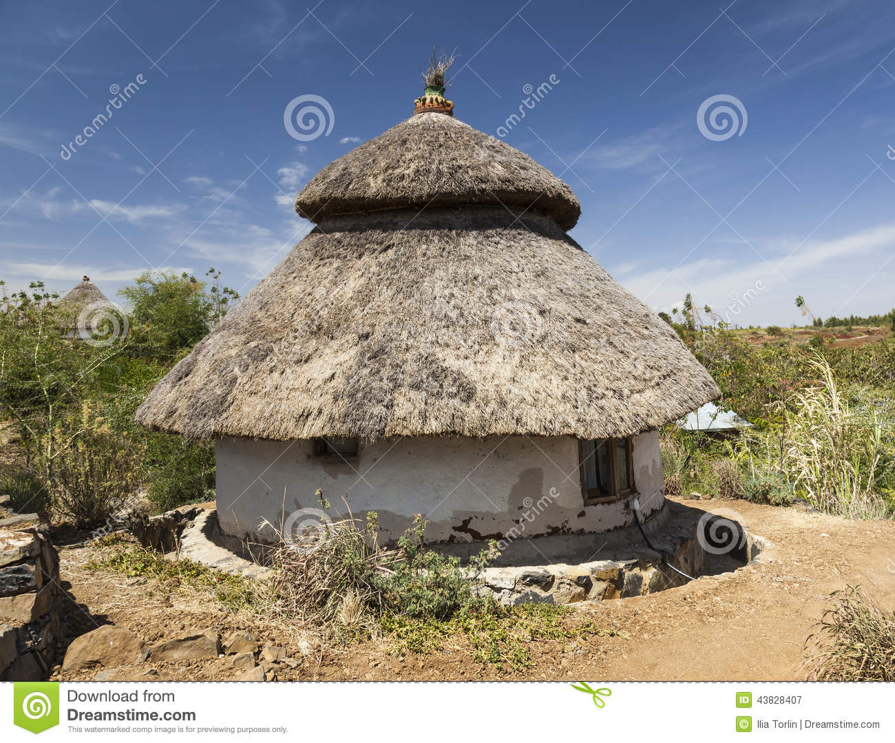 Traditional Ethiopian House Karat Konso Ethiopia Stock