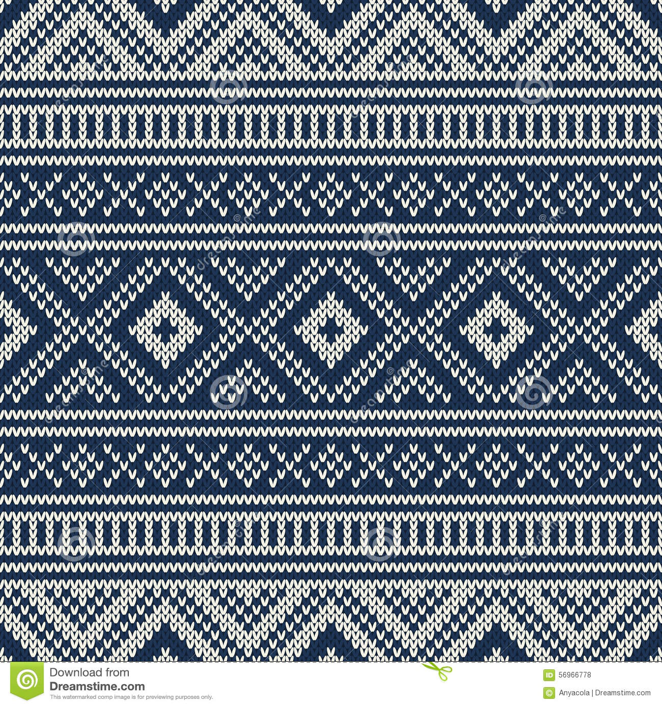 Free Printable Baby Knitting Patterns : Traditional Fair Isle Pattern. Seamless Knitting Ornament Stock Vector - Imag...