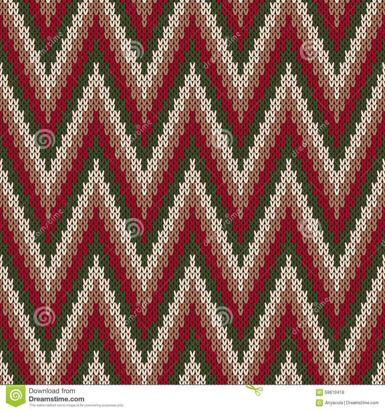 Free Baby Knitting Patterns For Blankets : Traditional Fair Isle Pattern. Seamless Knitting Ornament Stock Vector - Imag...