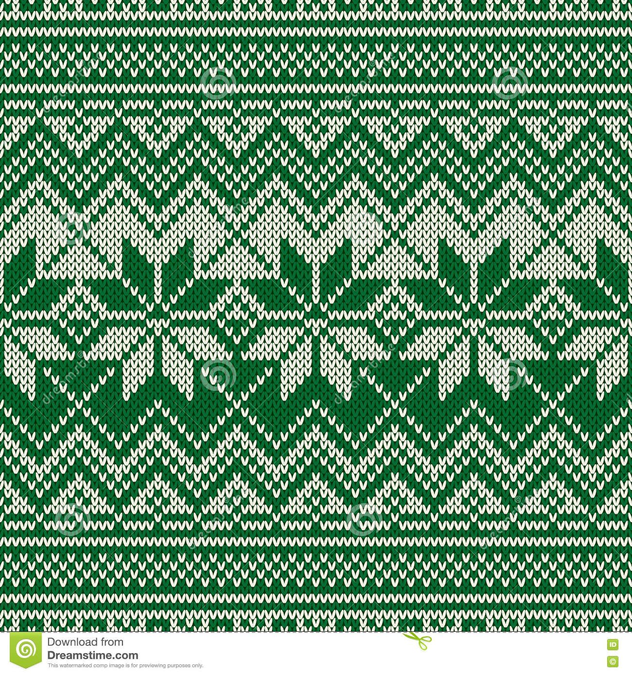 Traditional Fair Isle Style Seamless Knitted Pattern. Christmas ...