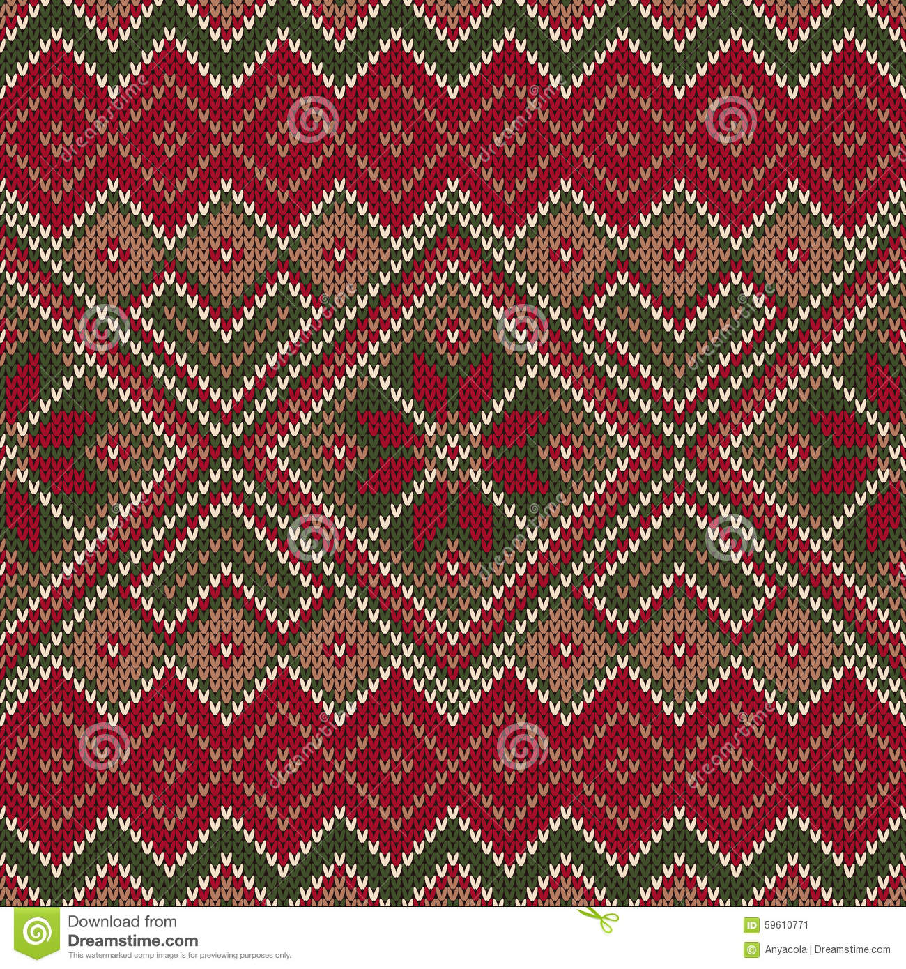 Free Baby Knitting Patterns For Blankets : Traditional Fair Isle Style Seamless Knitted Pattern. Christmas Stock Vector ...