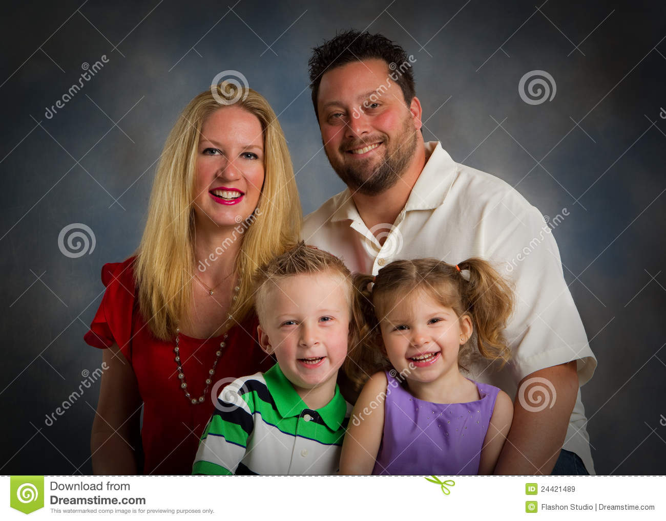 Traditional Family Studio Portrait Stock Image Image Of