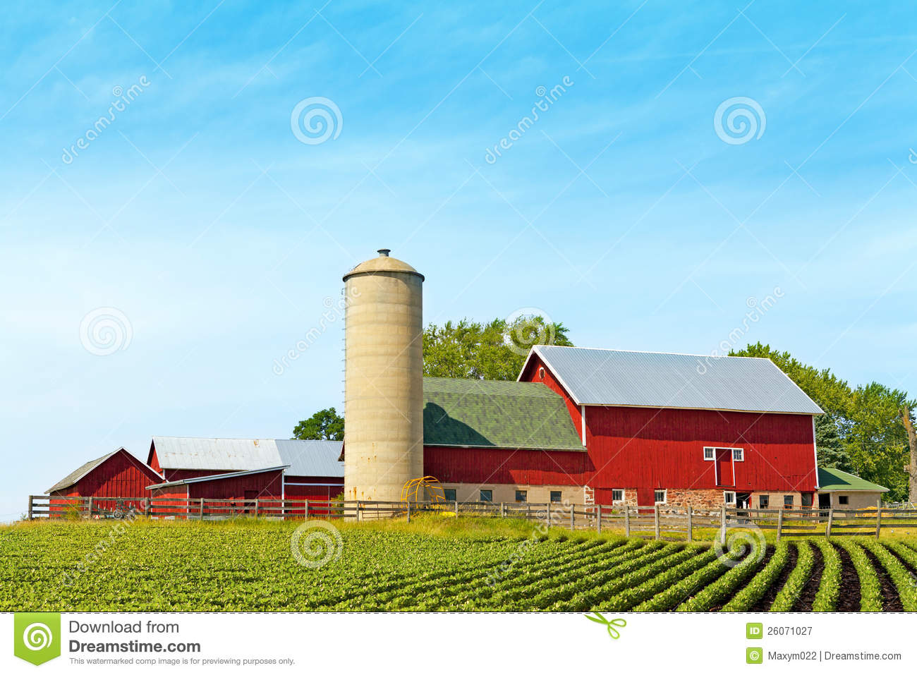 Traditional Farm Royalty Free Stock Photography Image
