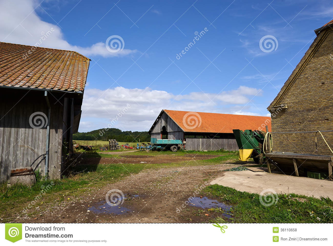 Traditional farm yard and barns royalty free stock photos for Yard barn
