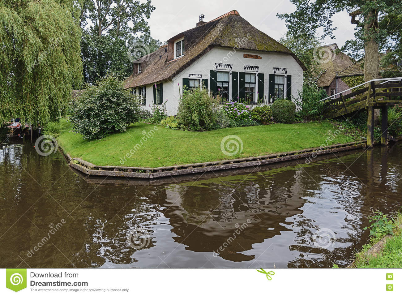 Thatched Cottages At Wherwell Hampshire England