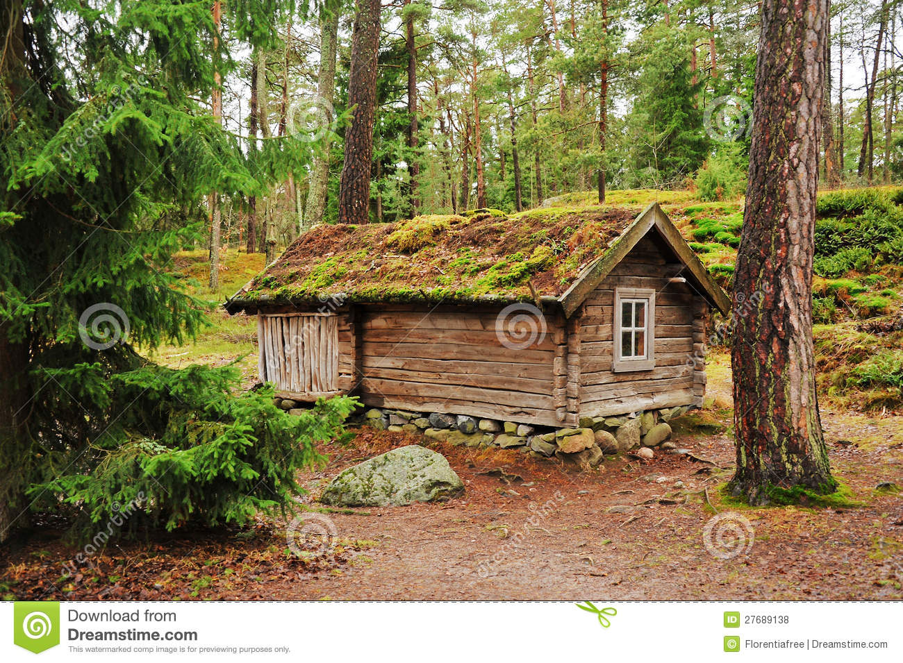 Traditional Finnish House Royalty Free Stock Photos