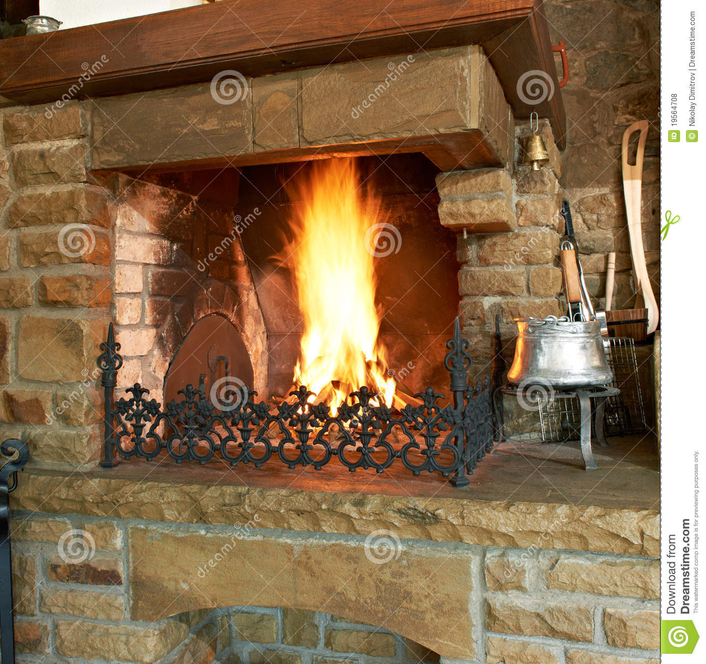 Traditional Fireplace Royalty Free Stock Photos Image 19564708
