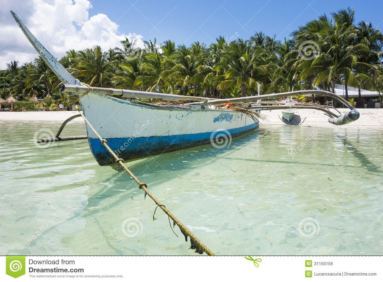 Traditional Fishermen Boat Of Philippines Royalty Free ...