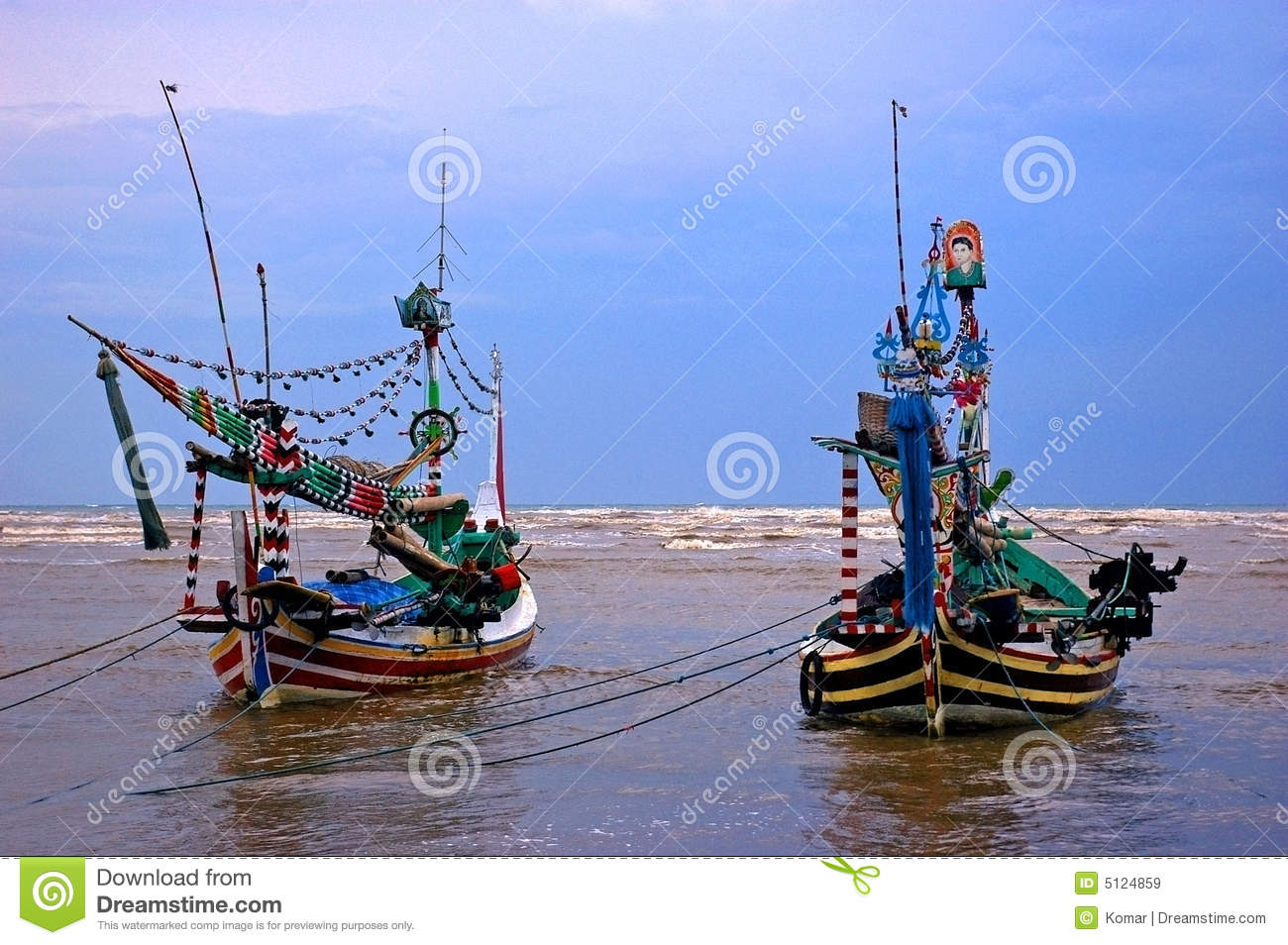 Traditional Fishing Boats, Java Royalty Free Stock Images ...