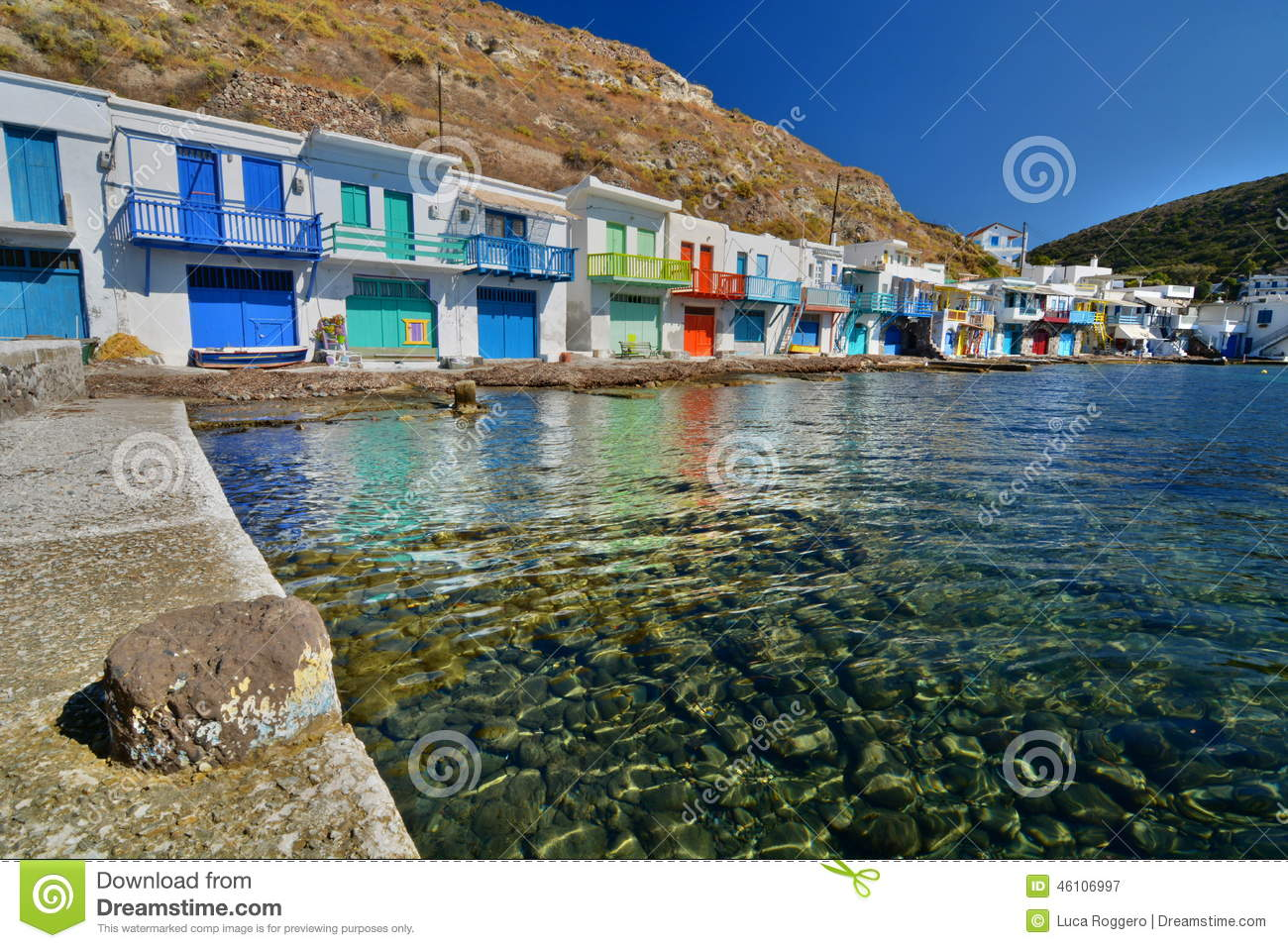 Traditional Fishing Village. Klima, Milos. Cyclades Islands. Greece Stock Photo - Image: 46106997