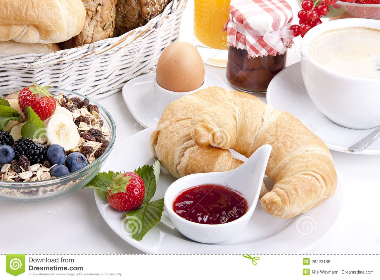 Traditional French Breakfast Croissant Stock Photo - Image ...