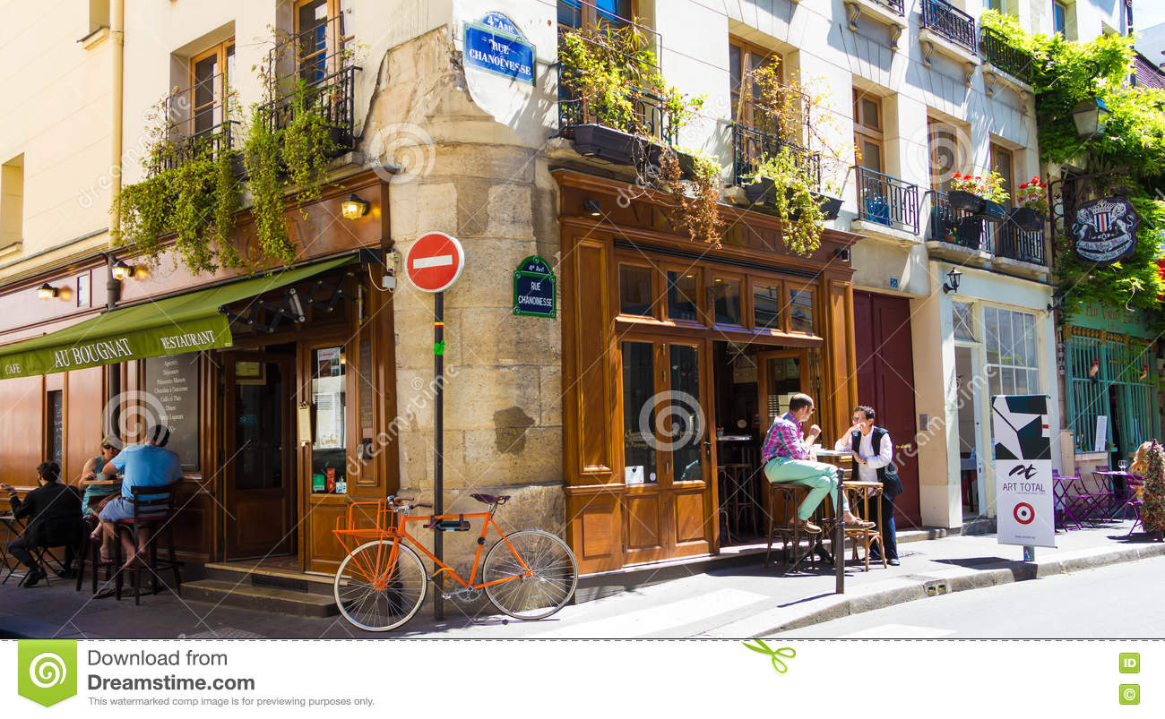 The traditional french cafe au bougnat, paris, france. editorial ...