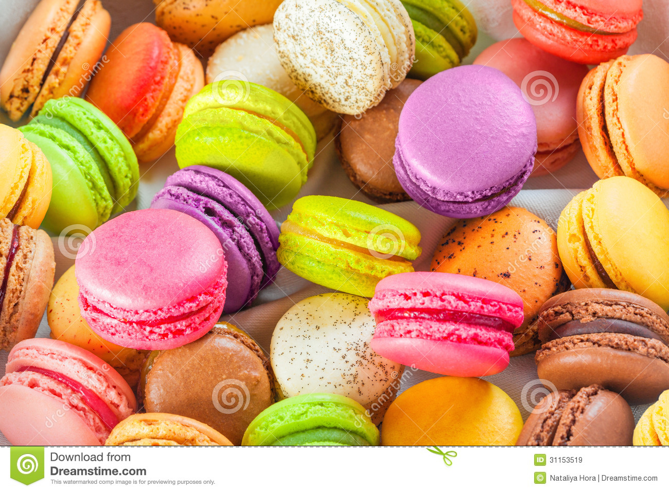 Traditional french colorful macarons stock image image - Cours de cuisine macarons ...