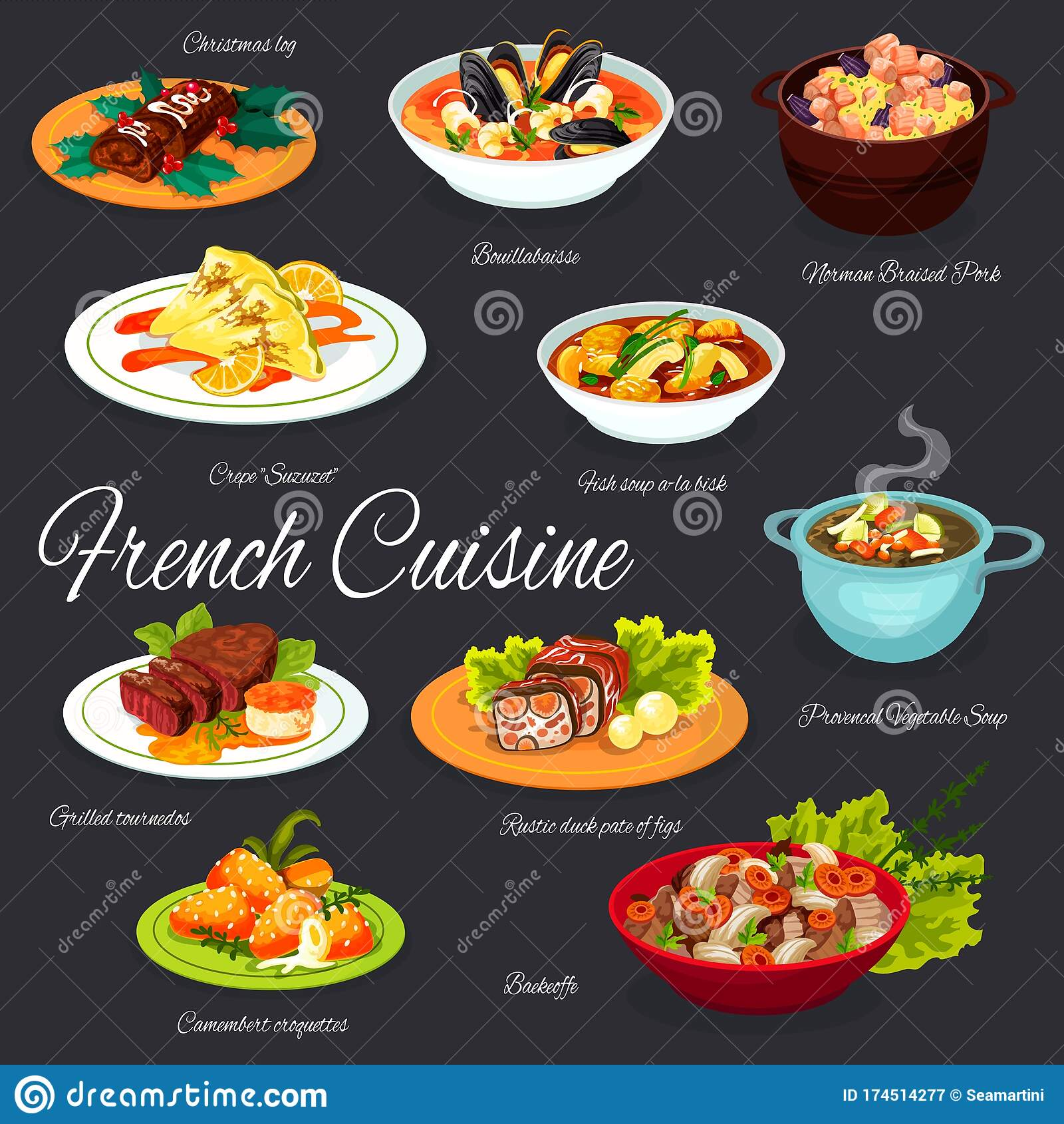 Beautiful French Cuisine Dishes Names