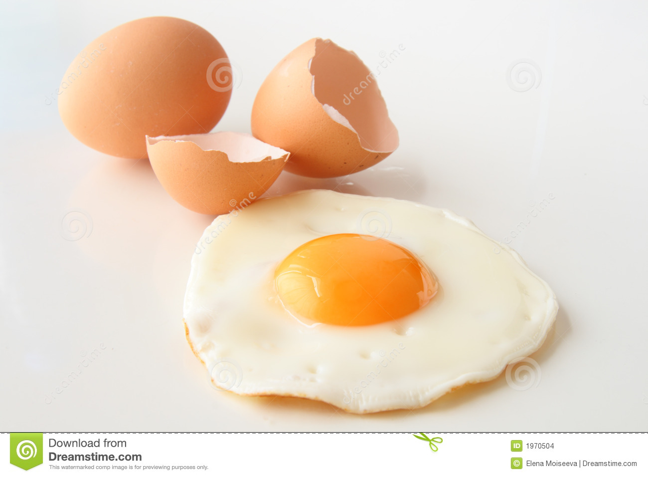Traditional Fried Egg With Cracked Shell And Whole Egg