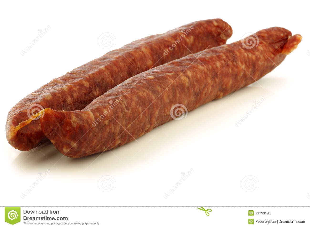 Traditional frisian dried sausages