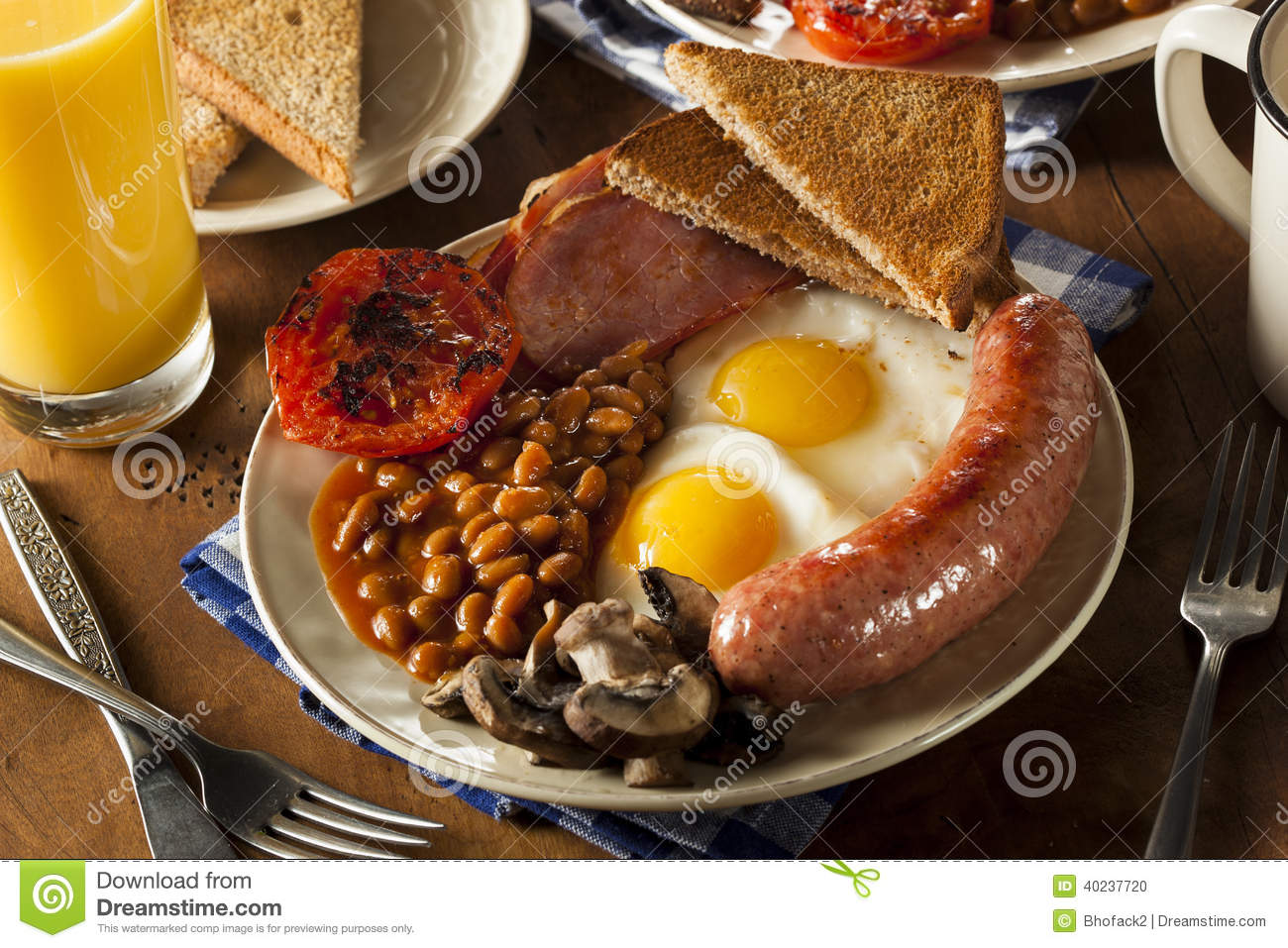Traditional Full English Breakfast Stock Photo - Image ...