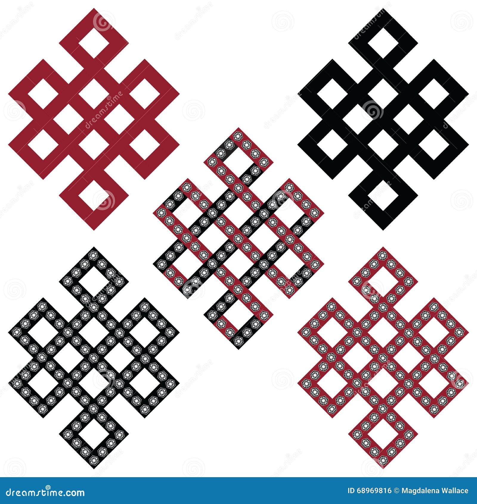 Traditional Geometric Oriental Tibetan Symmetrical Endless Eternity