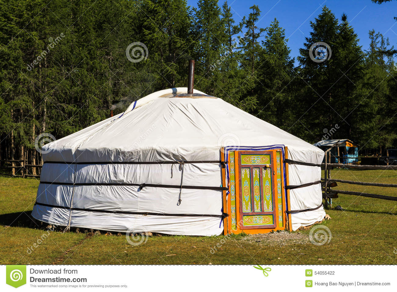 A Traditional Ger In Mongolia Stock Photo Image Of