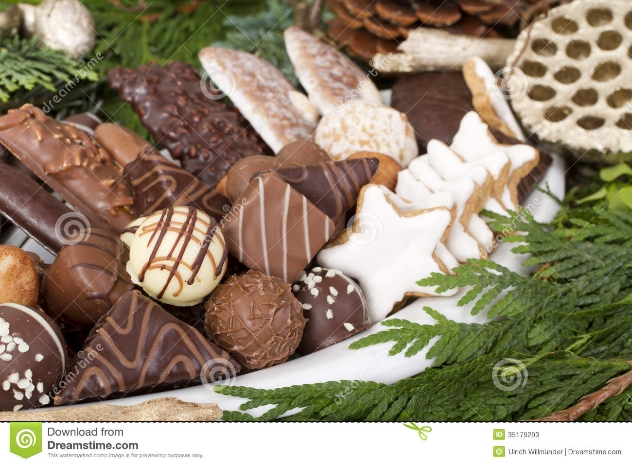 Traditional German Christmas Cookies Stock Image Image Of Greens